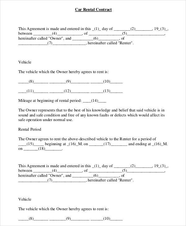 Sample Printable Lease Agreement Example. Lease Agreement Template ...