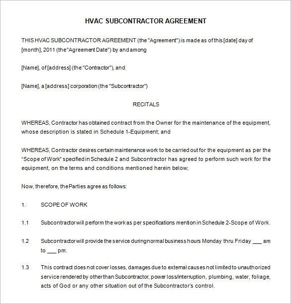 7+ Maintenance Contract Templates – Free Word, PDF Documents ...