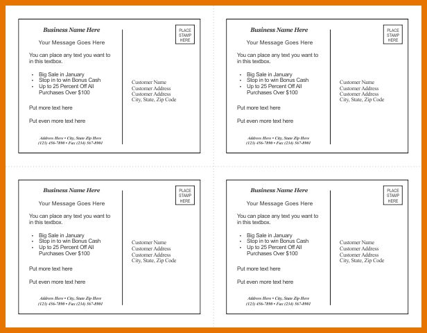 6+ postcard template for word | Itinerary Template Sample