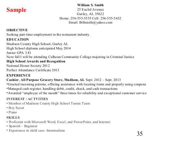 7 Resume Writing For Highschool Students Resume resume writing for ...
