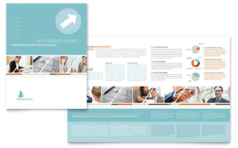 Management Consulting Brochure Template - Word & Publisher