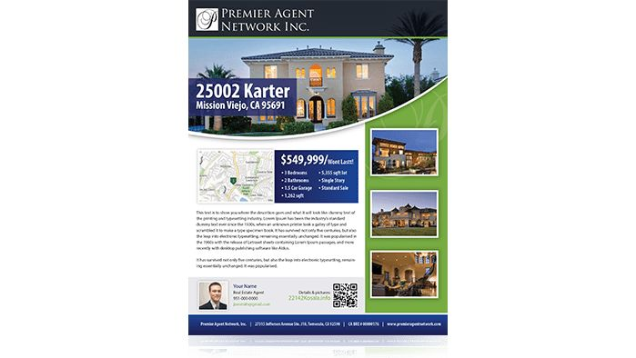 California Real Estate Agent Marketing, Business Cards, For Sale ...