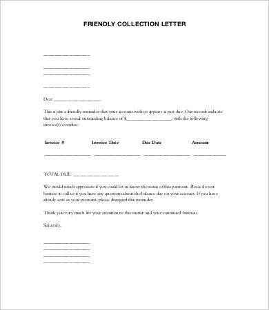 Collection Letter Template. Editable Collection Agency Cease And ...