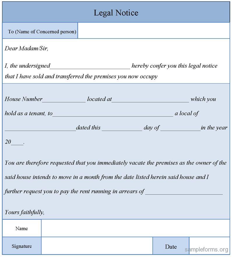 10 Best Images of Legal Notice Format Sample - Legal Notice Letter ...