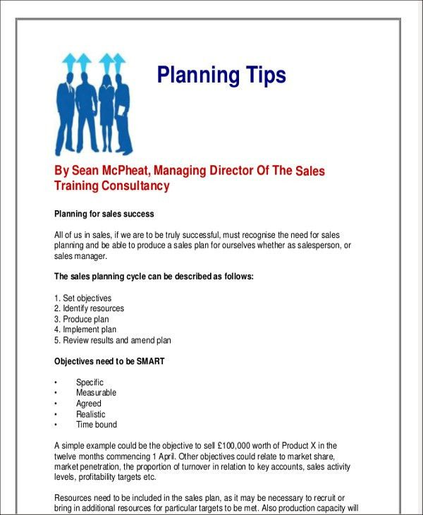 sales plan example