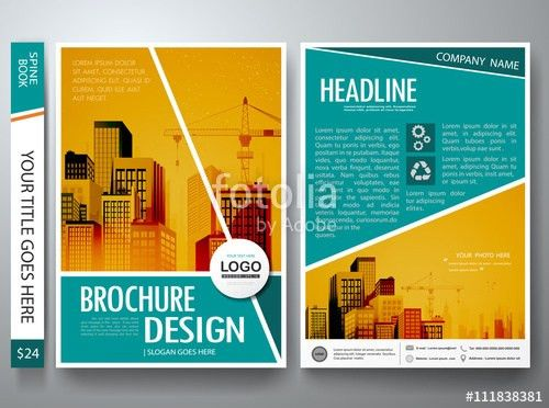 Brochure design template vector.Flyers annual report business ...