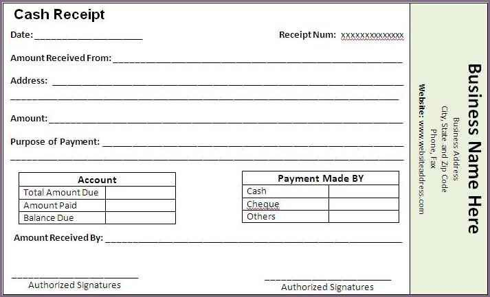 RECEIPT OF PAYMENT | proposalsampleletter.com