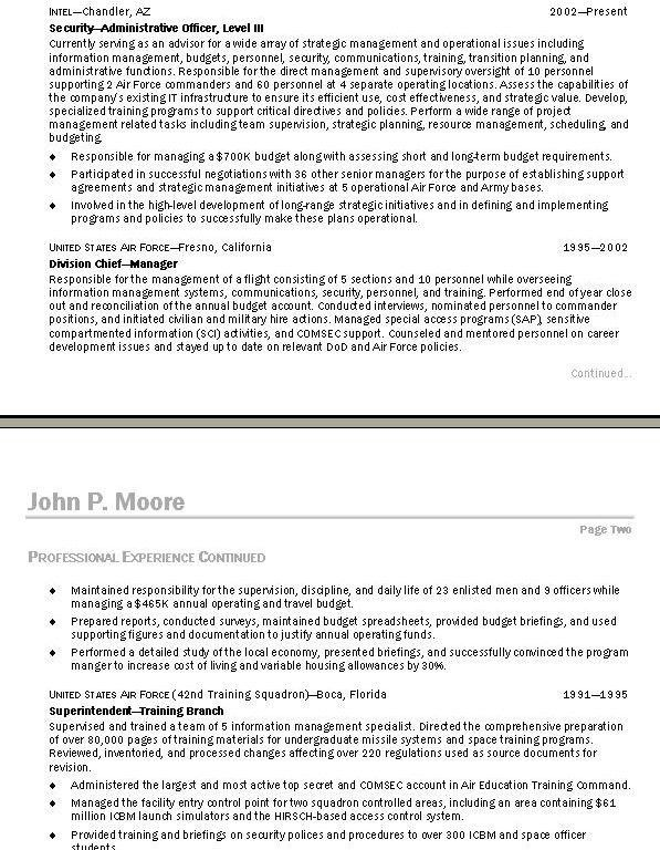 resume builder for military to civilian