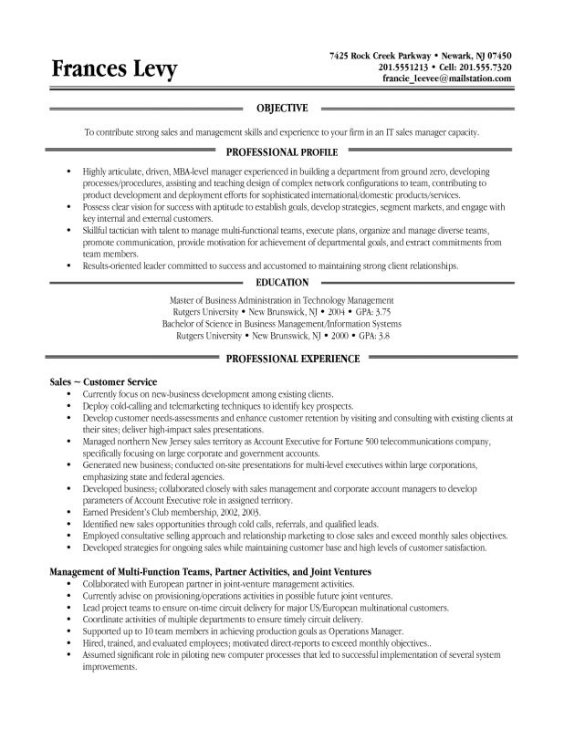 example of a functional resumes