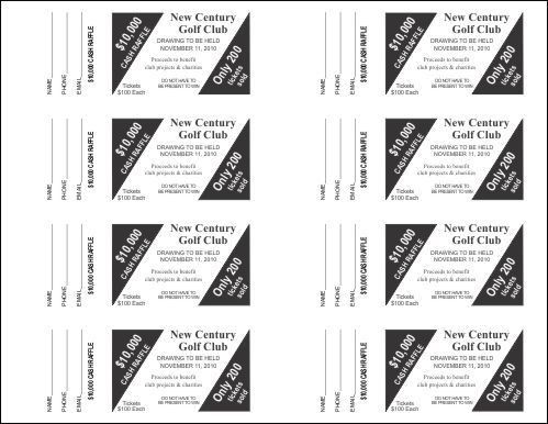 Raffle Ticket Templates - Small Raffle Ticket Templates - 4