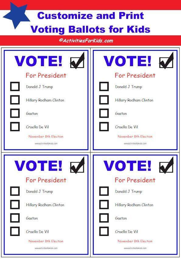 ballot word template