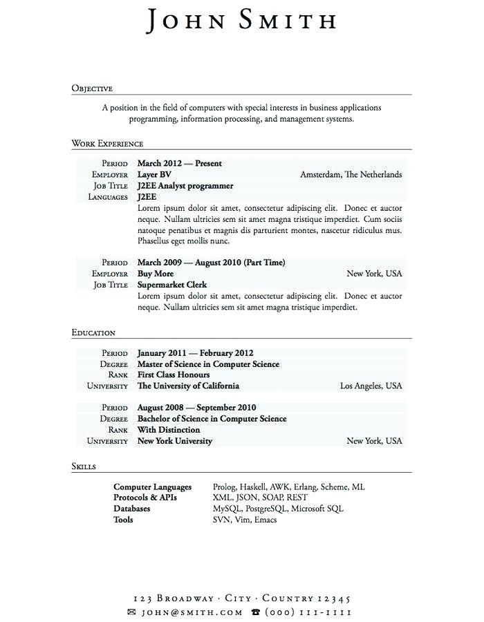 Resume Sample For Chemistry Teacher - Templates