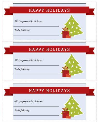 21 Free Printable Christmas Coupons