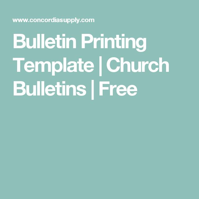 Bulletin Printing Template | Church Bulletins | Free | Church ...