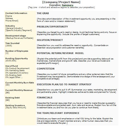 Writing Executive Summary Template. executive summary sample 9 ...