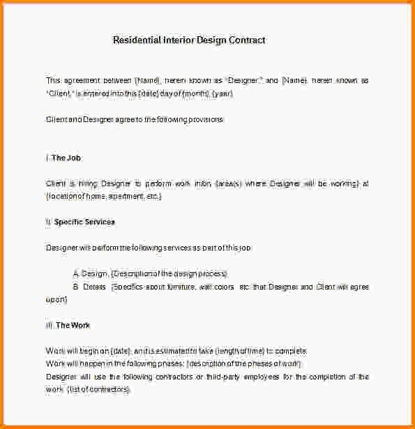 12+ interior design contracts | Letter Template Word