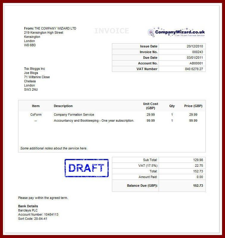 Download Invoice Template Uk Bank Details | rabitah.net