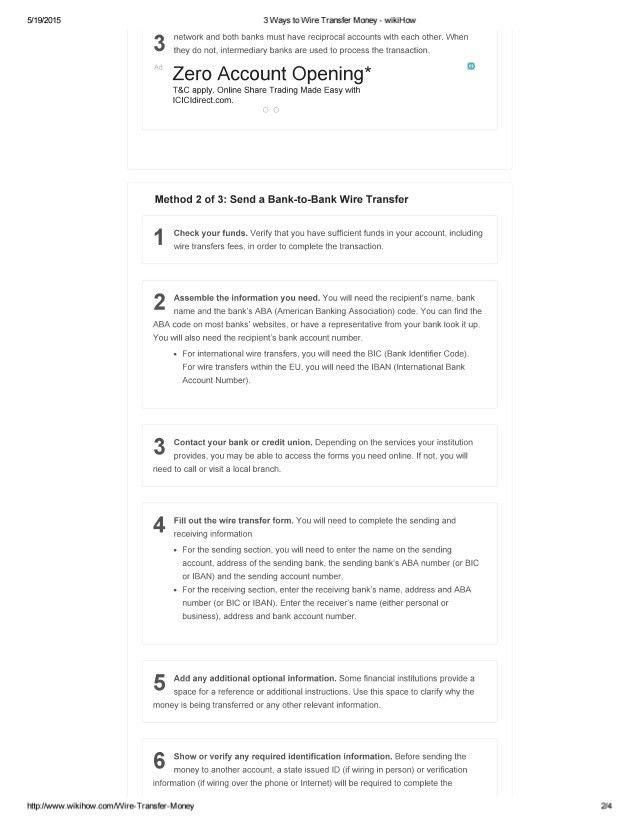 3 ways to wire transfer money wiki how