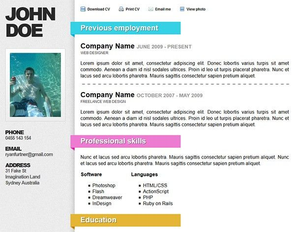 top 10 resume templates top 10 free resume templates for web