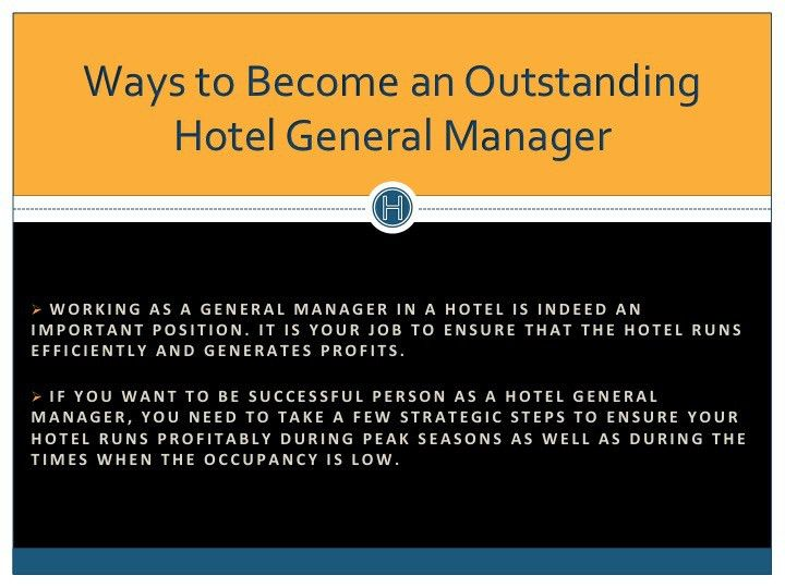 Be A Successful Hotel General Manager !! | Darrel Cartwright ...