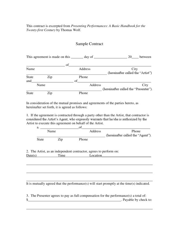 Contract Template | LegalForms.org