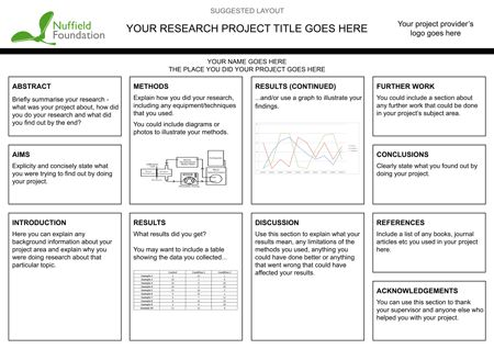 Creating a scientific poster | Nuffield Foundation