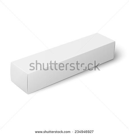 White Paper Cardboard Box Template Toothpaste Stock Vector ...