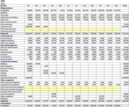 monthly cash flow statement - Google Search | shoes | Pinterest ...