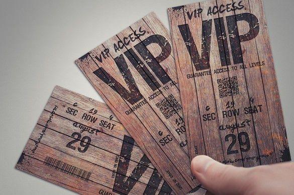 21+ Inspiring Examples of Creative Ticket Designs | Free & Premium ...
