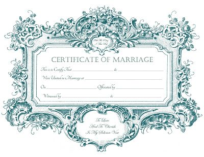 Keepsake Marriage Certificates for free download, Free graphics ...