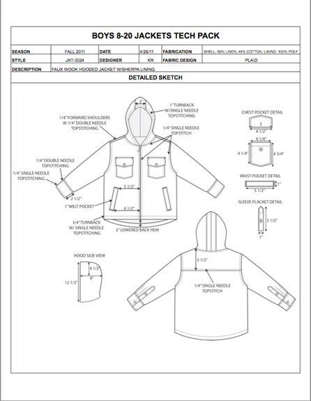 Childrens Design Detail Sheet Sample - Womens, Mens, Kids & Plus ...
