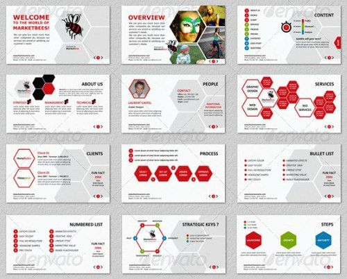 Marketbees Business PowerPoint Presentation Template | Creative ...
