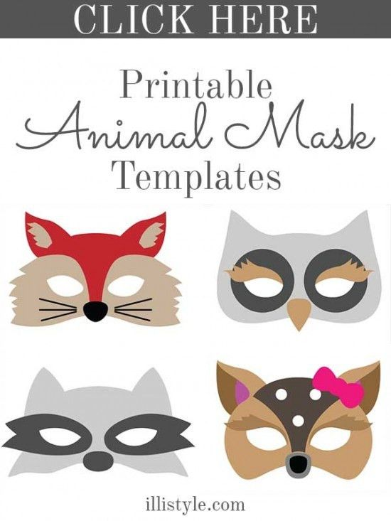 free printable animal masks templates | fox mask owl mask bear ...