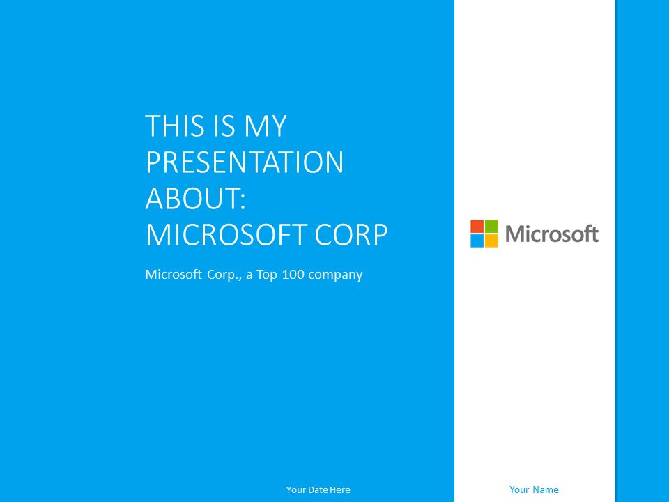 Microsoft PowerPoint Template Blue - PresentationGO.com