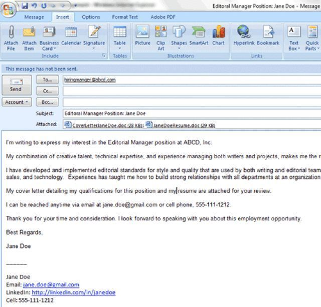 6 easy steps for emailing a resume and cover letter job ...