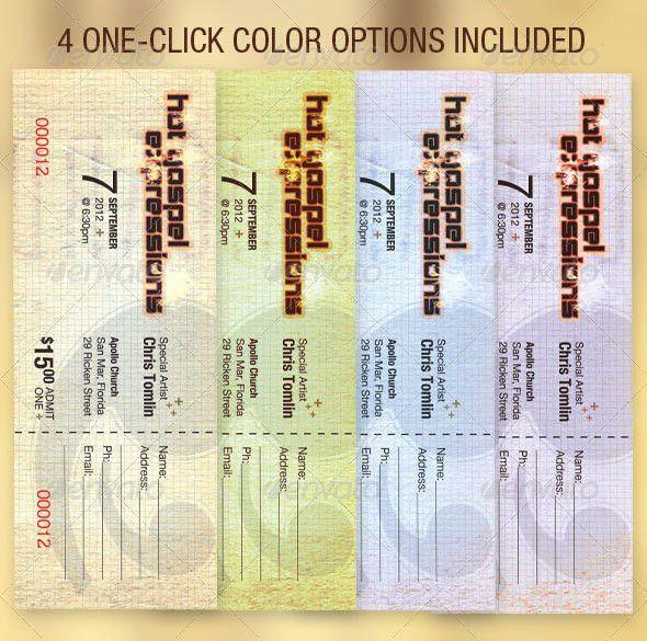 12 Ticket Design Templates | Wakaboom