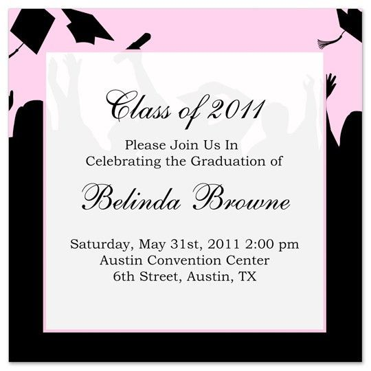 Examples Of Graduation Invitations – gangcraft.net