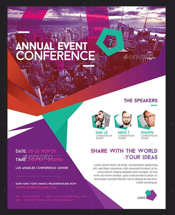 6+ Conference Event Flyers - Designs, Templates | Free & Premium ...