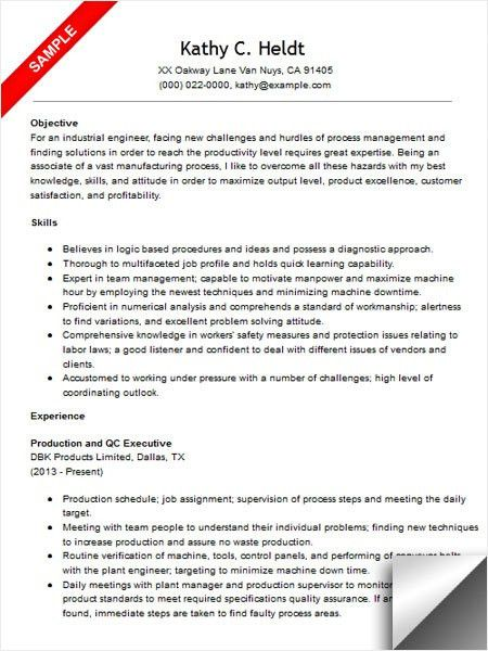 Engineer Resume Sample