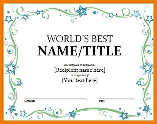 12+ awards certificate template word | mailroom clerk