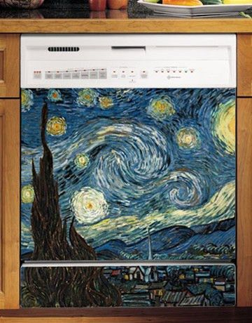 Starry Night Custom Dishwasher Cover. Fun Appliance Upgrade.