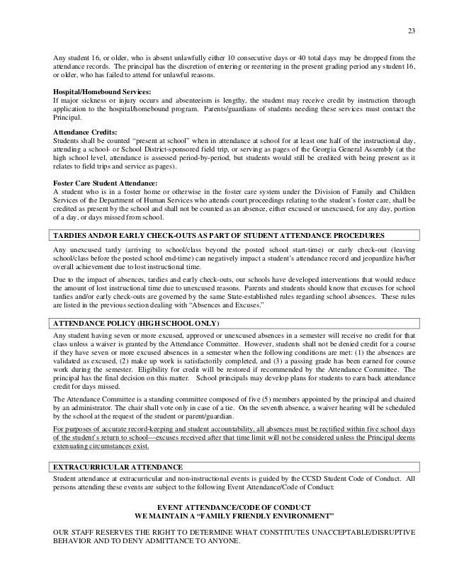 CCSD Student Parent Handbook