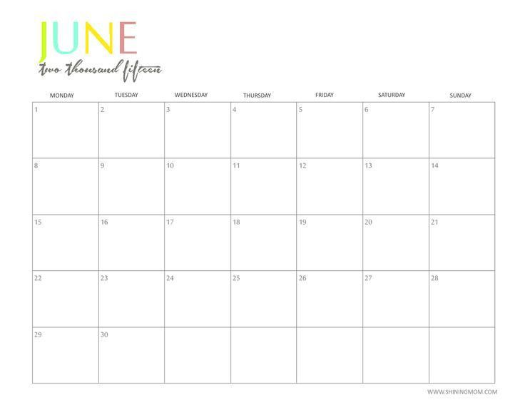 Best 25+ Calendar june ideas on Pinterest | May calander, April ...