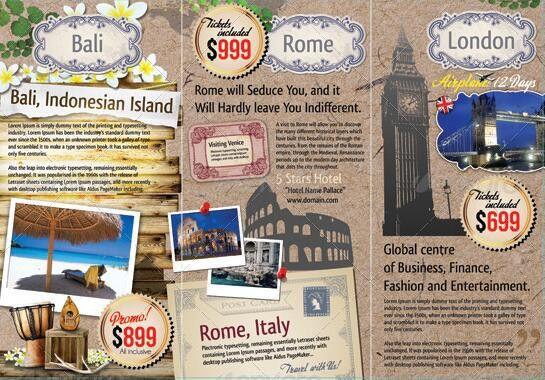 10 Beautiful Trifold Travel Brochure Tempaltes – PSD, PDF ...