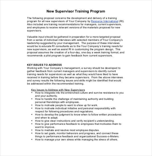 Training Proposal Templates – 25+ Free Sample, Example, Format ...