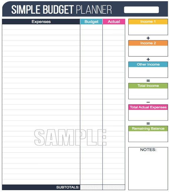 12+ Simple Budget Templates - Free Sample, Example, Format ...