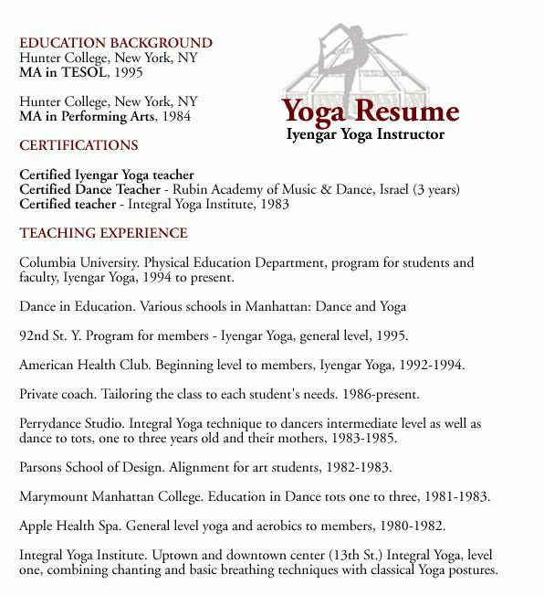 Download Yoga Resume | haadyaooverbayresort.com