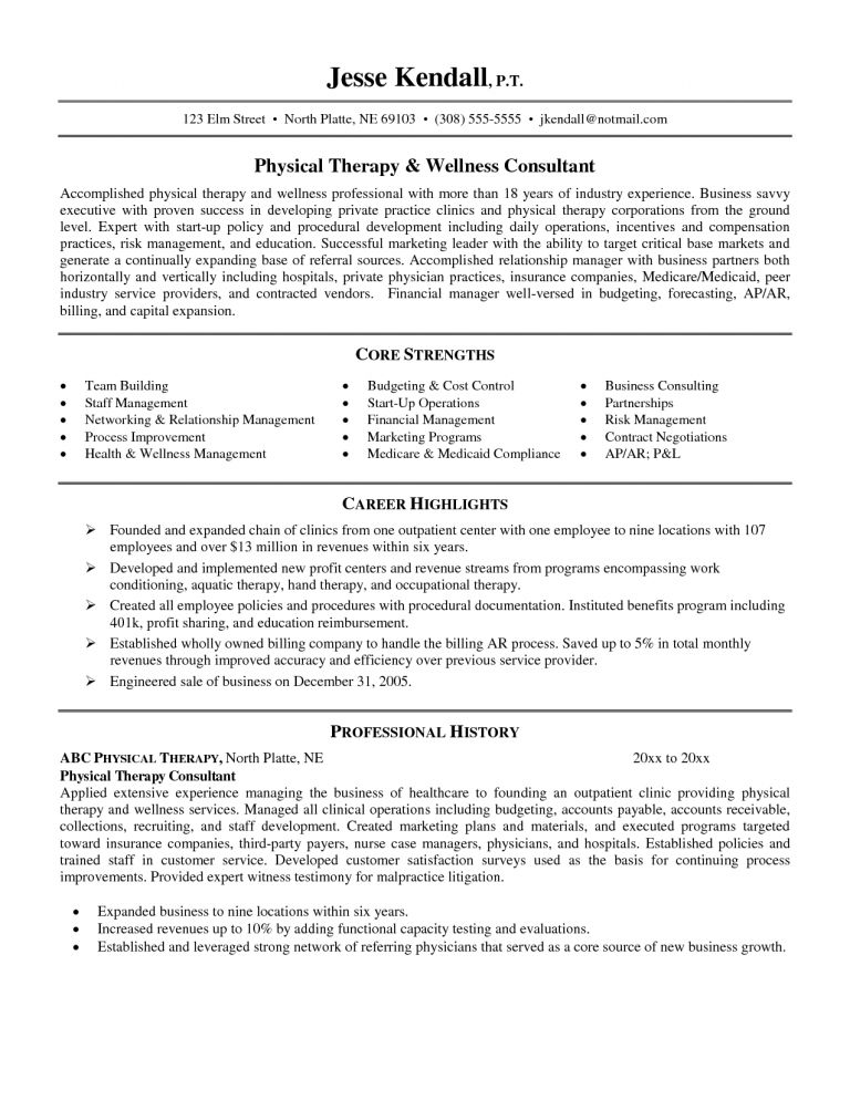 Physical Therapy Resume Examples 20 Therapist Resume Massage ...