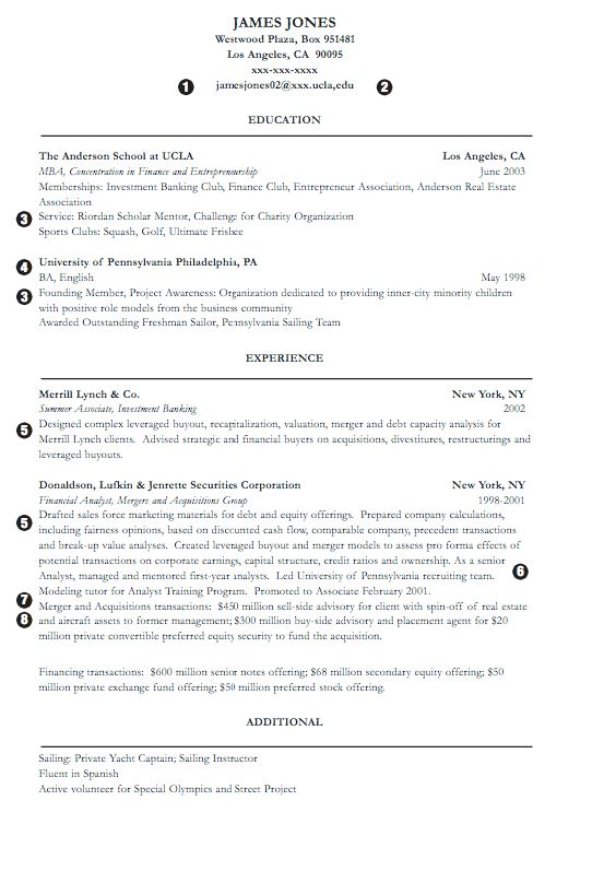 Investment Banking Resume Samples - RESUMEDOC
