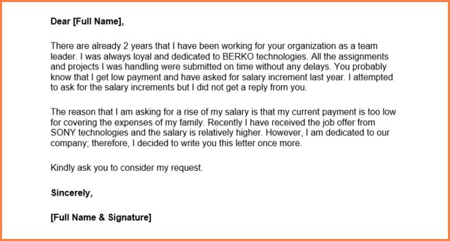 Stunning Salary Increase Letter Template Ideas - Best Resume ...